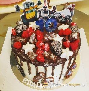 Ванильный торт для мальчика