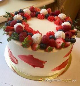 Нежный ванильный торт