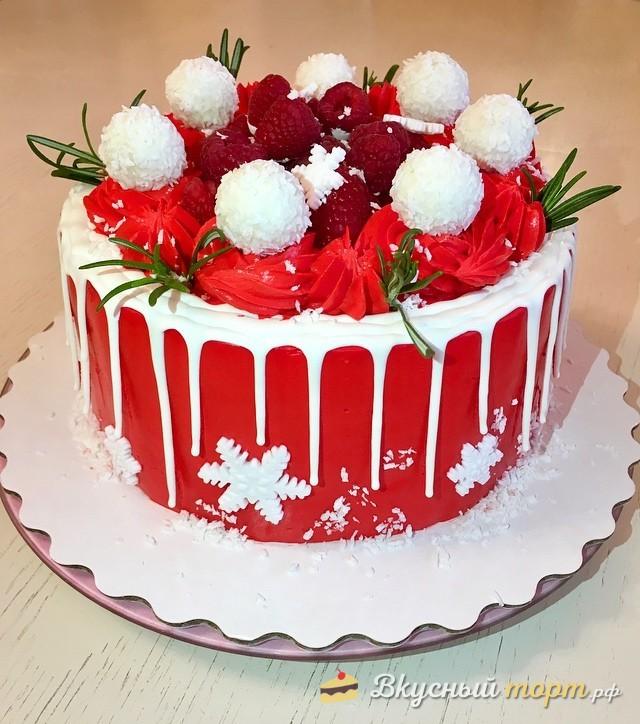 Торт на рождество