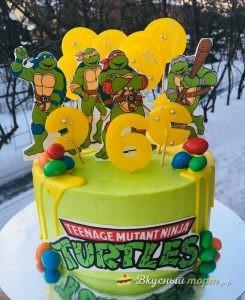 Торт «Черепашки Ниндзя» на День рождения