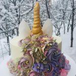 Шоколадный торт, единорог для девочки