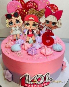 Торт для девочки LOL